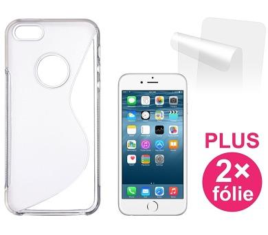 Kryt na mobil Connect IT pro iPhone 6 PLUS + 2ks ochranná fólie - průhledný