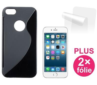 Kryt na mobil Connect IT pro iPhone 6 PLUS + 2ks ochranná fólie - černý