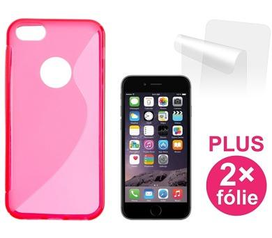 Kryt na mobil Connect IT pro iPhone 6 PLUS + 2ks ochranná fólie - červený