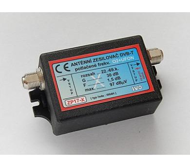 IVO zesilovač DVB-T/T2 30dB s potlačením O2+UFON IZP17-X