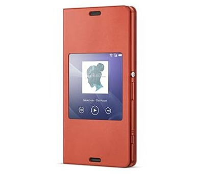 Sony Smart Cover pro Xperia Z3 Compact Orange + DOPRAVA ZDARMA