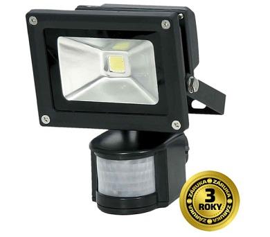 LED reflektor SMD s čidlem pohybu 10W černý