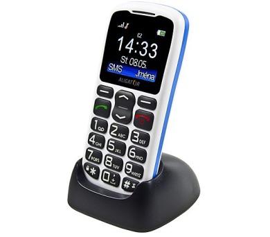 Mobilní telefon Aligator A430 - bílý/modrý