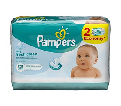 Pampers Baby Fresh clean 2x64ks
