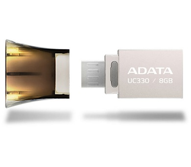 A-Data UC330 8GB OTG USB 2.0 - hnědý