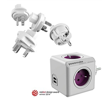Powercube ReWirable USB + Travel Plugs + DOPRAVA ZDARMA