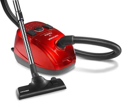 Concept VP8023 Sáčkový vysavač červený s HEPA filtrem FIESTA + DOPRAVA ZDARMA