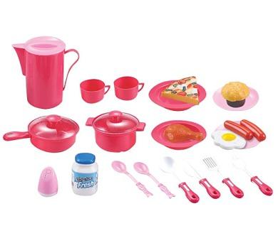 G21 Dětské nádobí plastové růžové 22 ks