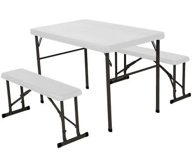 Campingový stůl + 2x laviceLIFETIME 80353 / 80352 + DOPRAVA ZDARMA