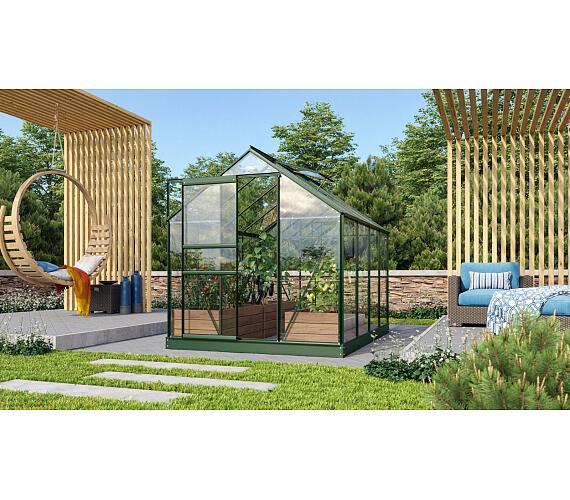 Skleník Lanit Plast VITAVIA VENUS 5000 čiré sklo 3 mm zelený