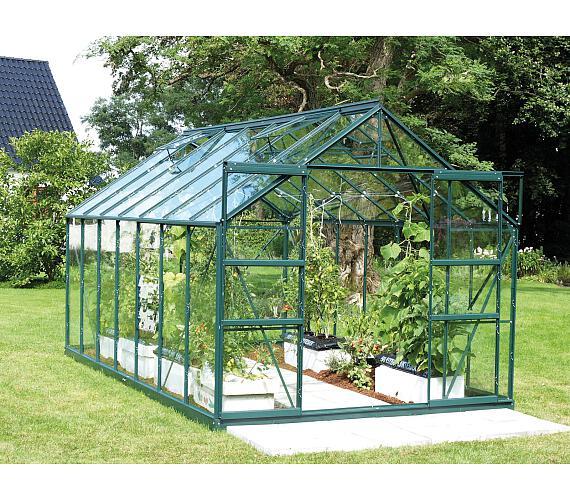 Skleník Lanit Plast VITAVIA URANUS 11500 čiré sklo 3 mm zelený