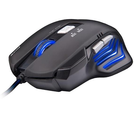 C-Tech Akantha GM-01 / optická / 6 tlačítek / 2400dpi - černá