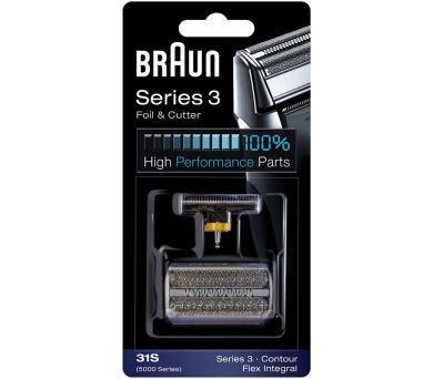 Braun FlexIntegral - 31S stříbrný