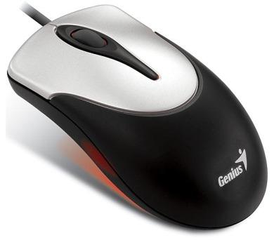 Genius NetScroll 100 / optická / 3 tlačítka / 800dpi - černá/stříbrná