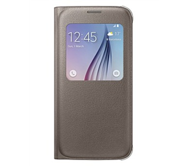 Samsung S-View pro Galaxy S6 (EF-CG920PF) - hnědé
