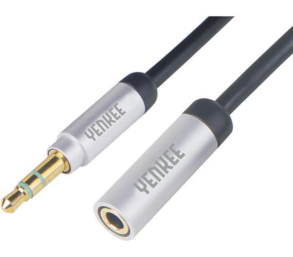 Yenkee YCA 222 BSR kabel AUX M/F 2m kov.