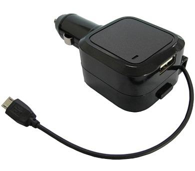 USB nabíjecí autoadaptér SOLIGHT