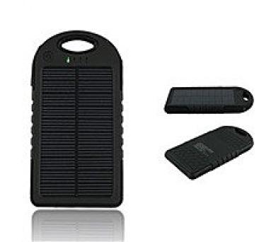 Power Bank REMAX 5.000 mAh - solární BLACK + DOPRAVA ZDARMA