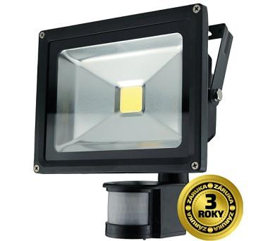 LED reflektor SMD s čidlem pohybu 20W černý