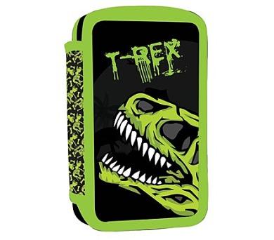 Penál školní P + P Karton dvoupatrový prázdný T-Rex