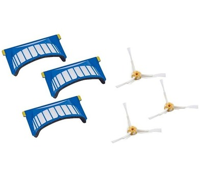 iRobot 500/600 Series - 3-Pack filtr & 3-Pack Side Brush