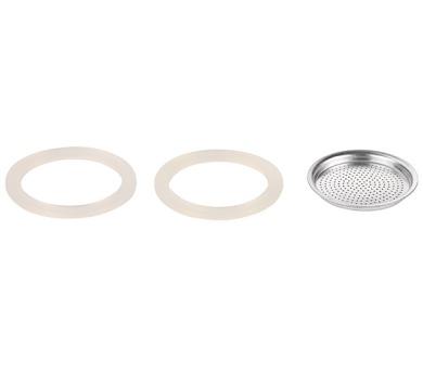 Silikonové těsnění 2 ks a filtr PALOMA 6 šálků