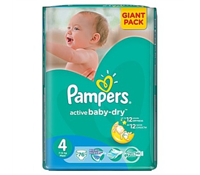 Pampers Active Baby-dry vel. 4Maxi