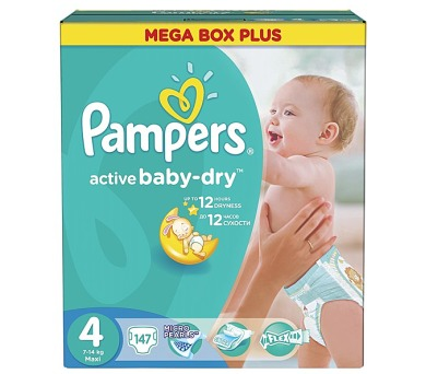 Pampers Active Baby-dry vel.4 Maxi