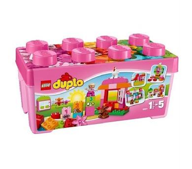 Stavebnice Lego® DUPLO Kostičky 10571 Růžový box plný zábavy + DOPRAVA ZDARMA