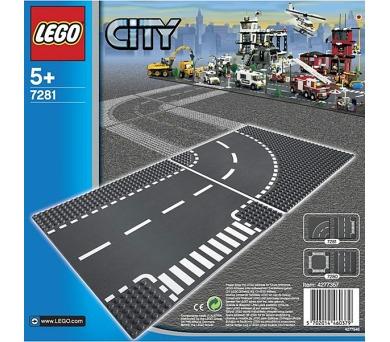 Stavebnice LEGO® CITY 7281 Křižovatka ve tvaru T a zatáčky