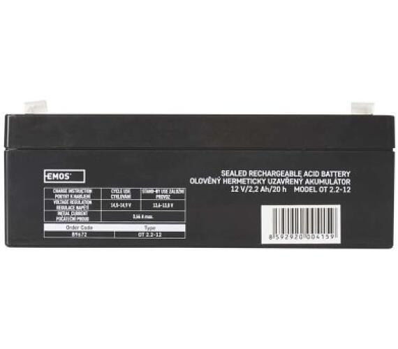Bezúdržbový olověný akumulátor 12V 2,2Ah