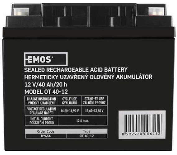 Bezúdržbový olověný akumulátor 12V 40Ah M6 + DOPRAVA ZDARMA