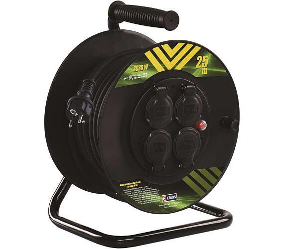 Gumový prodlužovací kabel na bubnu - 4 zásuvky 25m 1,5mm