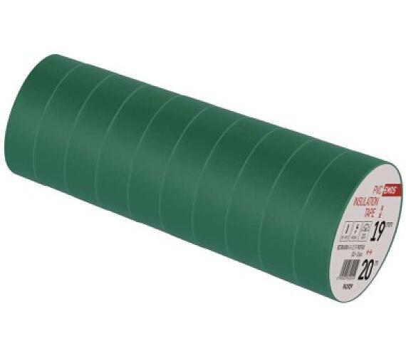 Izolační páska PVC 19mm / 20m zelená