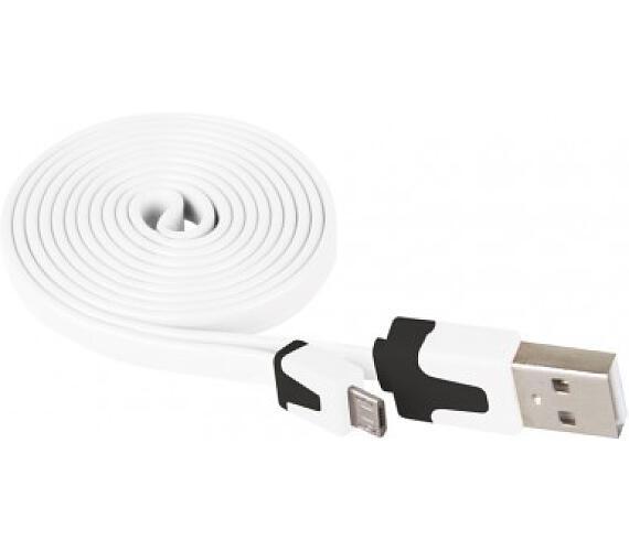 Kabel USB 2.0 A/M - micro B/M 1m bílý
