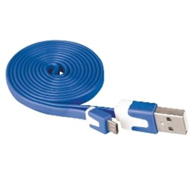 Kabel USB 2.0 A/M - micro B/M 1m modrý