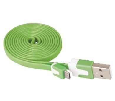 Kabel USB 2.0 A/M - micro B/M 1m zelený