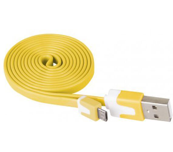 Kabel USB 2.0 A/M - micro B/M 1m žlutý