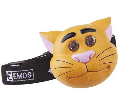 LED čelovka - kočka