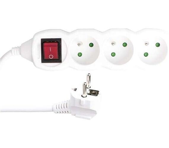 Prodlužovací kabel s vypínačem 3 zásuvky 3m 3x 1,5mm