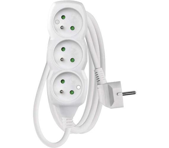 Prodlužovací kabel bílý 3 zásuvky 1,5m