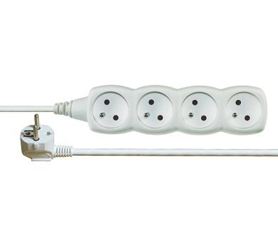 Prodlužovací kabel bílý 4 zásuvky 3m