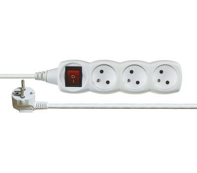 Prodlužovací kabel s vypínačem 3 zásuvky 7m