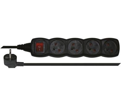 Prodlužovací kabel s vypínačem 4 zásuvky 3m