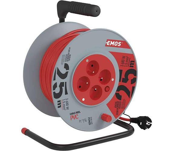 PVC prodlužovací kabel na bubnu - 4 zásuvky 25m + DOPRAVA ZDARMA