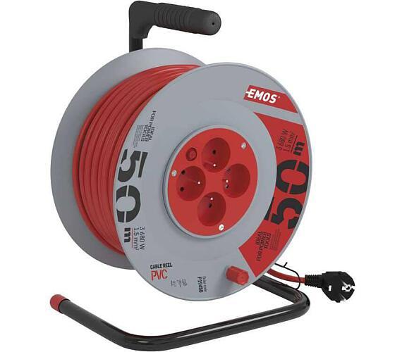 PVC prodlužovací kabel na bubnu - 4 zásuvky 50m
