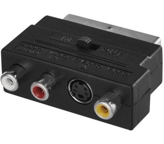 Redukce SCART na 3x CINCH + SVHS adaptér