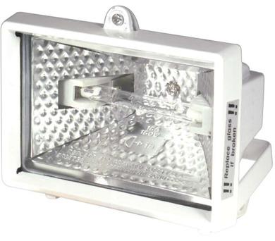 Halogenový reflektor 150W bez PIR senzoru bílý