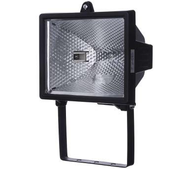 Halogenový reflektor 500W bez PIR senzoru černý