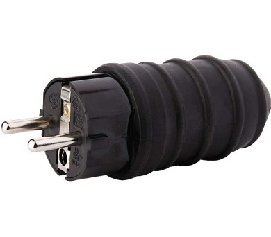 Vidlice gumová přímá pro prodlužovací kabel